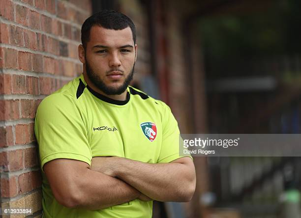 Ellis Genge poses during the Leicester Tigers media session held at the Oadby Oval on October 11 2016 in Leicester England