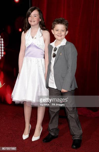Ellis Hollins and Lydia Waters arriving for the 2010 British Soap Awards at the ITV Studios South Bank London