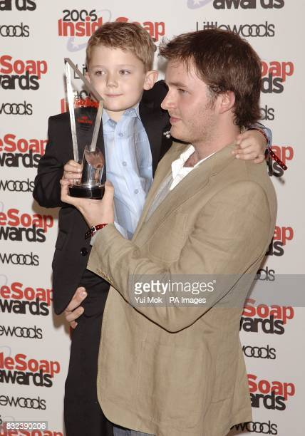 Ellis Hollins and Matt Littler arrive for the Inside Soap awards