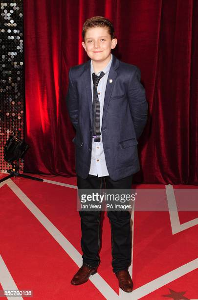 Ellis Hollins arriving for the 2013 British Soap Awards at MediaCityUK Salford Manchester