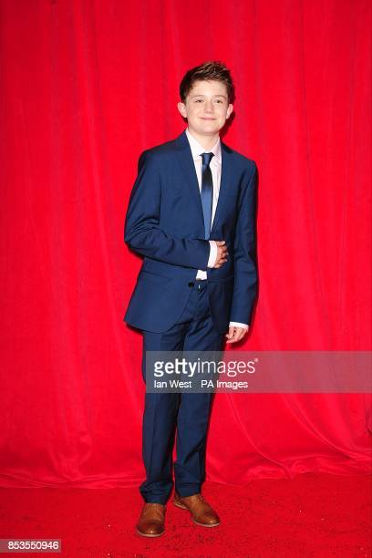 Ellis Hollins arriving for the 2014 British Soap Awards at The Hackney Empire 291 Mare St London