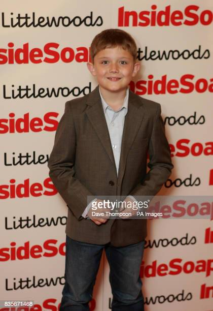 Ellis Hollins of Hollyoaks during the Inside Soap Awards Nominations evening at the Great John Street Hotel in Manchester