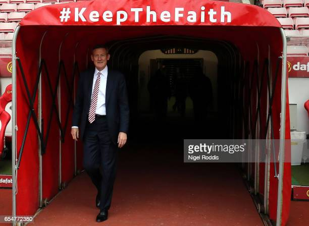 Ellis Short Sunderland chairman walks out of the tunnel to take a look at the pitch prior to the Premier League match between Sunderland and Burnley...