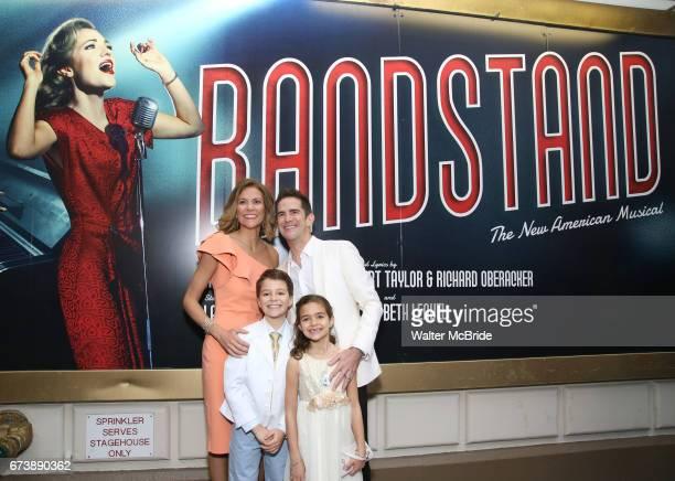 Elly Blankenbuehler Andy Blankenbuehler Luca Blankenbuehler and Sofia Blankenbuehler attend the Broadway Opening Night performance of 'Bandstand' at...