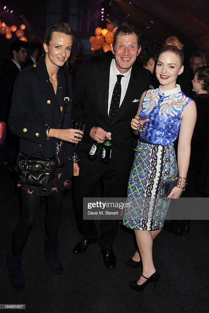 Elly Fairman, Jason Flemyng and Holliday Grainger attend an after party following the Gala Premiere of 'Great Expectations' which closes the 56th BFI London Film Festival at Battersea Power station on October 21, 2012 in London, England.