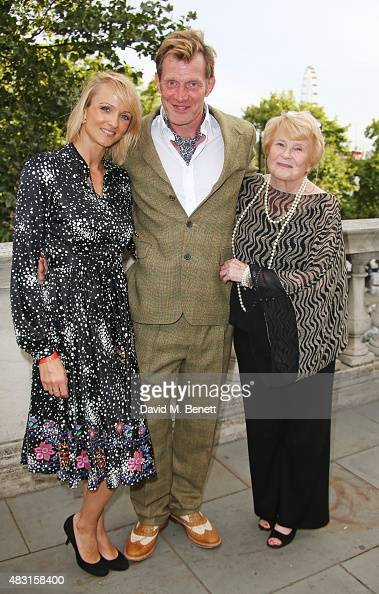 Elly Flemyng Jason Flemyng and Fiona Flemyng attend a UK Premiere of 'Gemma Bovery' at Somerset House on August 6 2015 in London England