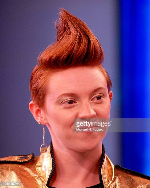 Elly Jackson of La Roux performs on ABC's 'Good Morning America' at ABC Studios on June 9 2010 in New York City