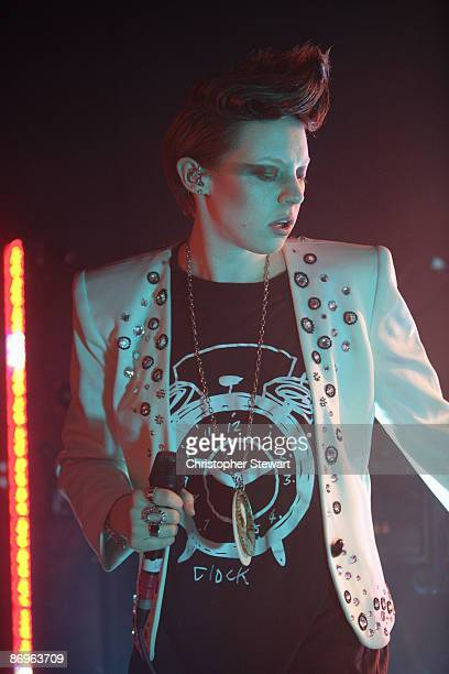 Elly Jackson of La Roux performs on stage at the '53 Degrees Club' on May 8 2009 in Preston Lancashire