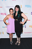 Elly Noble and Lauren Elder attend 2016 New York Musical Festival Opening Night at 42West on July 18 2016 in New York City