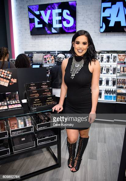 Ellynes Martinez attends the NYX Professional Makeup Store Garden State Plaza Store Photos College Night on September 22 2016 in Paramus New Jersey