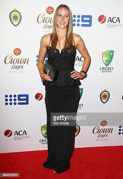 Ellyse Perry arrives at the 2014 Allan Border Medal at Doltone House on January 20 2014 in Sydney Australia