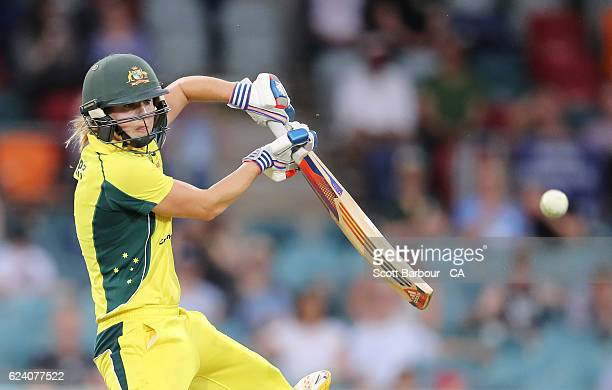 Ellyse Perry of the Australian Southern Stars bats during the women's one day international match between the Australian Southern Stars and South...