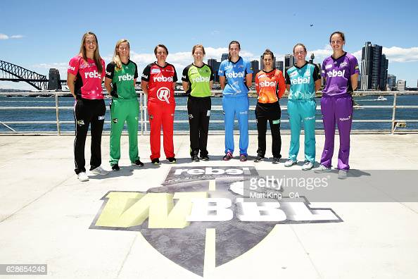 Ellyse Perry of the Sydney Sixers Meg Lanning of the Melbourne Stars Rachael Priest of the Melbourne Renegades Alex Blackwell of the Sydney Thunder...