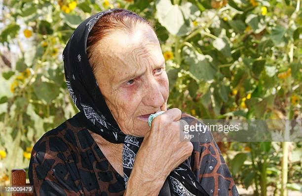 Elmam MAMEDOV A picture taken on September 25 2011 in the town of Murguzalli shows 80yearold French woman Ivona Chirmamedova Ivona Chirmam maiden...