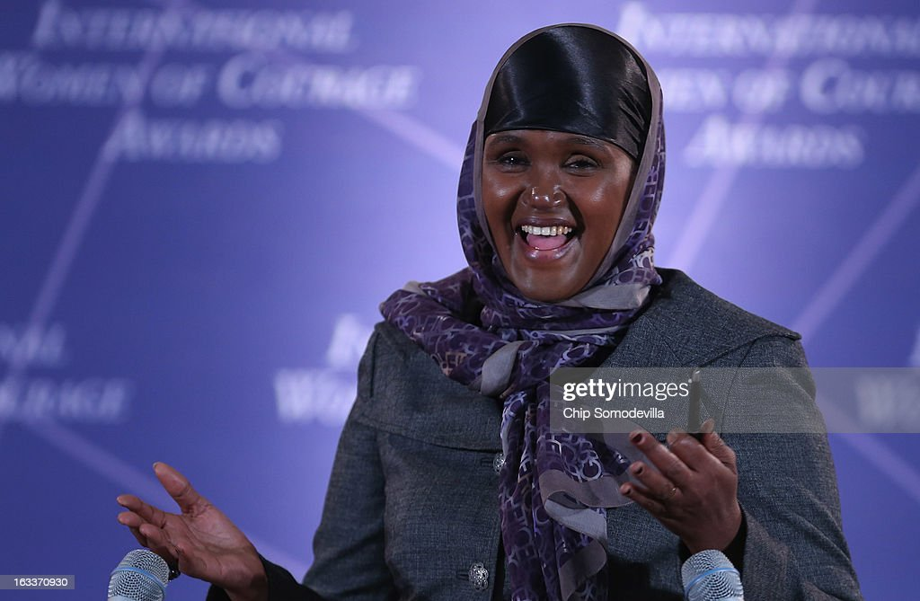 Elman Peace and Human Rights Centre Executive Director Fartuun Adan of Somalia delivers remarks after receiving the International Women of Courage award at the State Department March 8, 2013 in Washington, DC. In celebration of the 102nd International Women's Day, the State Department honored nine women from around the world with the International Women of Courage Award, including the 23-year-old Indian woman known only as 'Nirbhaya,' who died from injuries she received after being gang raped by six men last December in Delhi.