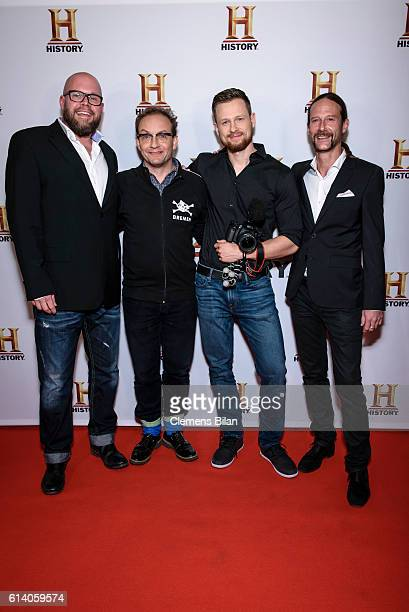 Elmar Steege Wigald Boning Erik Waechtler and Fritz Meinecke attend the preview screening of the new series 'Wigald Fritz Die Geschichtsjaeger' by...