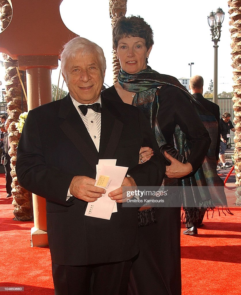 Elmer Bernstein and wife during Ninth Annual Screen Actors Guild Awards - Backstage and Audience at The Shrine Auditorium in Los Angeles, California, United States.