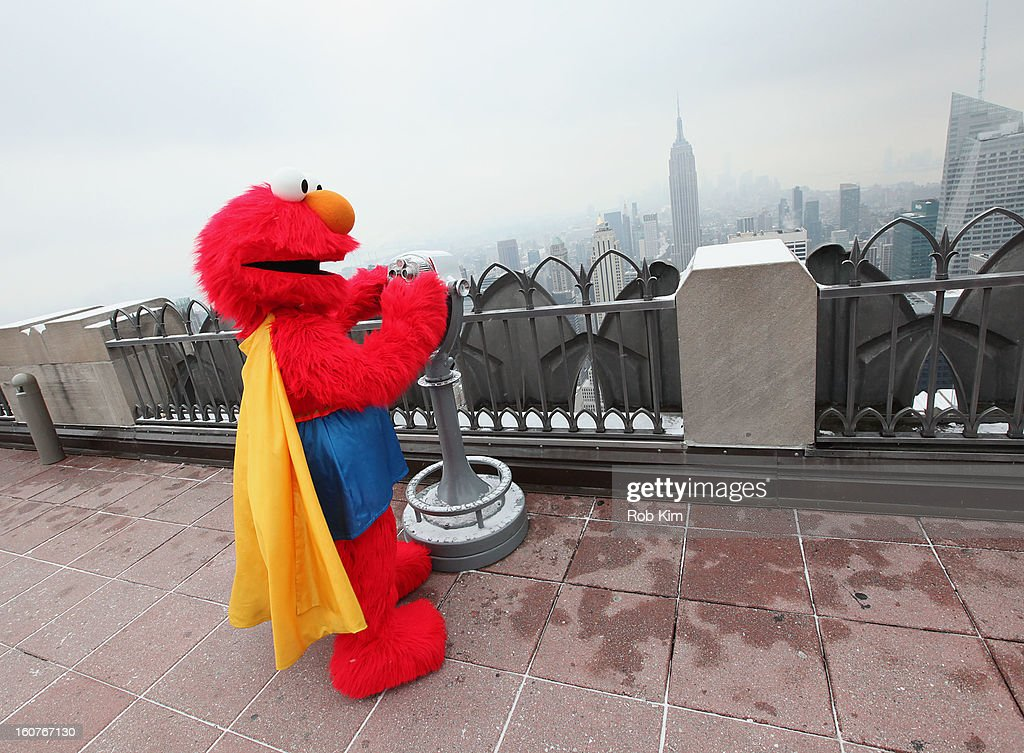 Elmo visits the Top of the Rock Observation Deck at Rockefeller Center on February 5, 2013 in New York City.