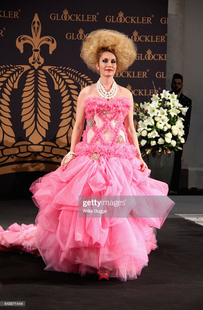 Elna Margret Prinzessin zu Bentheim und Steinfurt attend walks the runway during the fashion staging of the fairy tale 'Die zertanzten Schuhe' by Harald Gloeoeckler at Hotel de Rome on June 27, 2016 in Berlin, Germany.