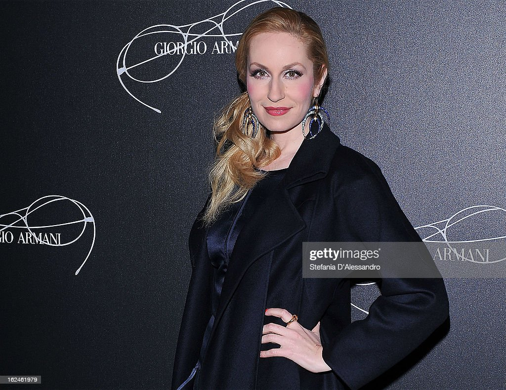 Elna Margret Zu Bentheim attends Giorgio Armani - Luxottica Event on February 23, 2013 in Milan, Italy.