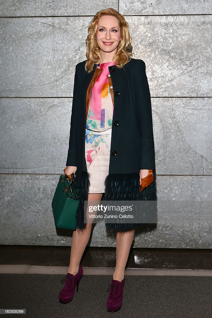 Elna Margret zu Bentheim attends the Emporio Armani fashion show during Milan Fashion Week Womenswear Fall/Winter 2013/14 on February 24, 2013 in Milan, Italy.