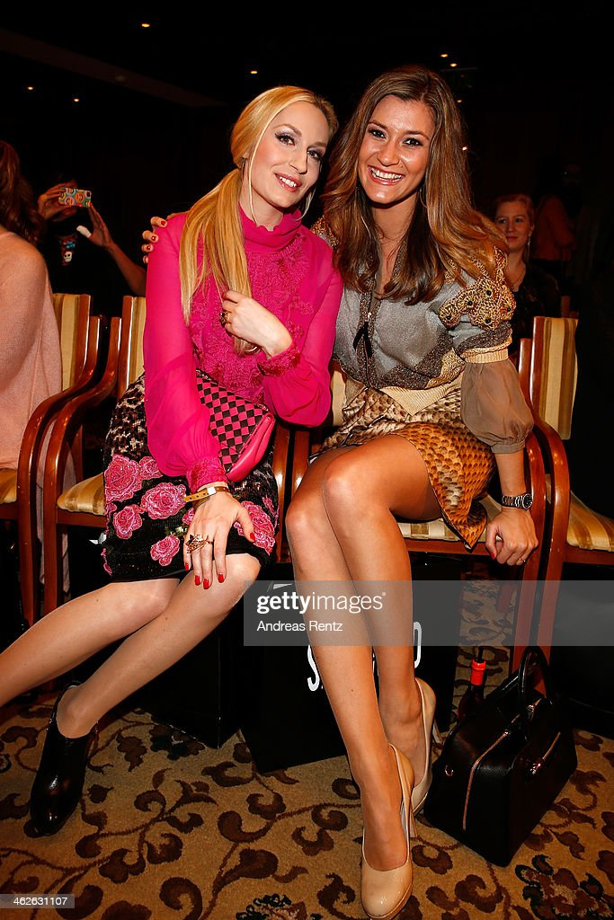 Elna zu Bentheim and Sandra Thier attend the Sava Nald show during the Mercedes-Benz Fashion Week Autumn/Winter 2014/15 at Hotel Adlon on January 14, 2014 in Berlin, Germany.