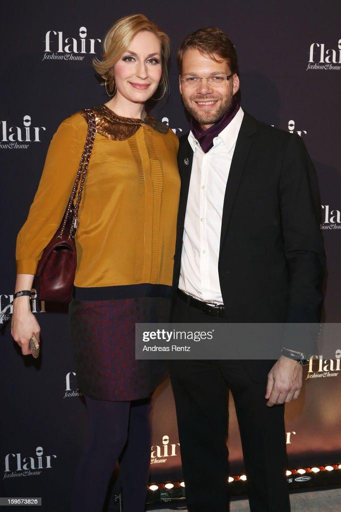 Elna-Margret zu Bentheim and Kai Rose attends Flair Magazine Party at Pariser Platz 4 on January 15, 2013 in Berlin, Germany.