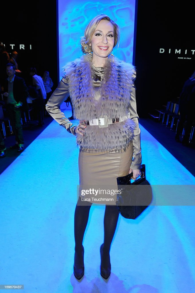 Elna-Margret zu Bentheim attends Dimitri Autumn/Winter 2013/14 fashion show during Mercedes-Benz Fashion Week Berlin at Brandenburg Gate on January 16, 2013 in Berlin, Germany.