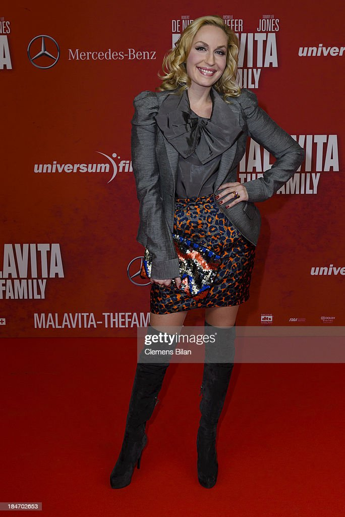 Elna-Margret zu Bentheim attends the 'Malavita' premiere at Kino in der Kulturbrauerei on October 15, 2013 in Berlin, Germany.