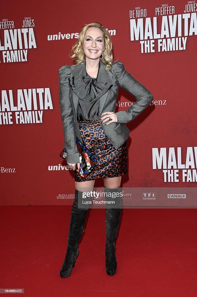 Elna-Margret zu Bentheim attends the 'Malavita - The Family' Germany Premiere at Kino in der Kulturbrauerei on October 15, 2013 in Berlin, Germany.