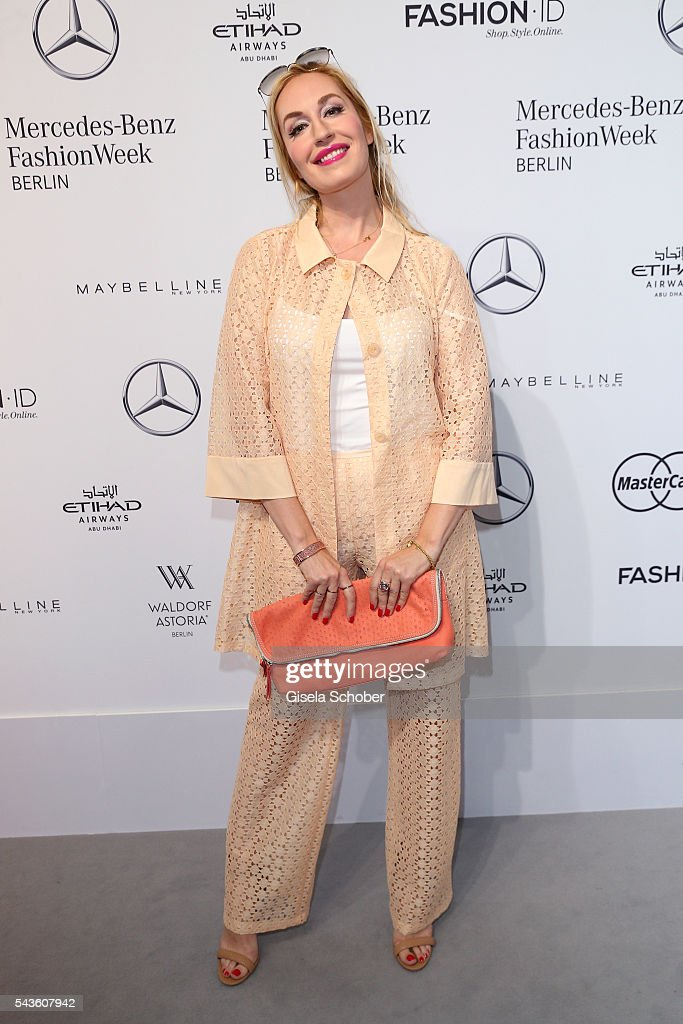 Elna-Margret zu Bentheim attends the Minx by Eva Lutz show during the Mercedes-Benz Fashion Week Berlin Spring/Summer 2017 at Erika Hess Eisstadion on June 29, 2016 in Berlin, Germany.