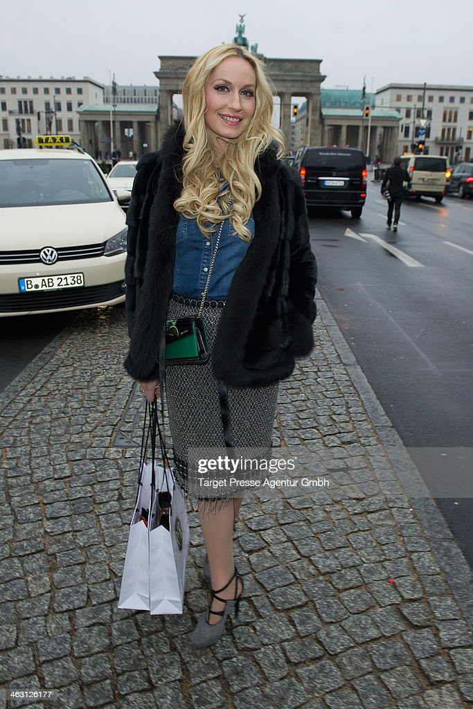 Elna-Margret zu Bentheim und Steinfurt attends the Glaw show during Mercedes-Benz Fashion Week Autumn/Winter 2014/15 at Brandenburg Gate on January 16, 2014 in Berlin, Germany.