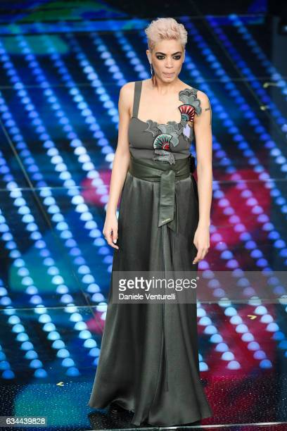 Elodie attends the third night of the 67th Sanremo Festival 2017 at Teatro Ariston on February 9 2017 in Sanremo Italy