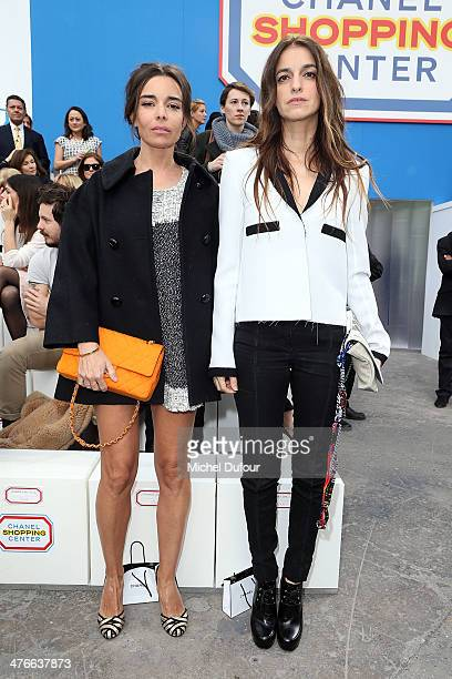 Elodie Bouchez and Joana Preiss attend the Chanel show as part of the Paris Fashion Week Womenswear Fall/Winter 20142015 on March 4 2014 in Paris...
