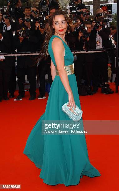Elodie Bouchez arrives for the premiere of Babel at the Palais des Festival during the 59th Cannes Film Festival in France