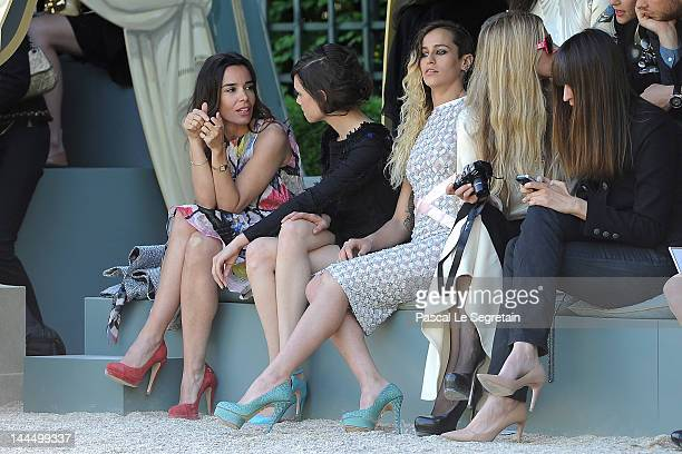 Elodie Bouchez Astrid BergesFrisbey Alice Dellal Laura Bailey and Caroline de Maigret attend the Chanel 2012/13 Cruise Collection at Chateau de...