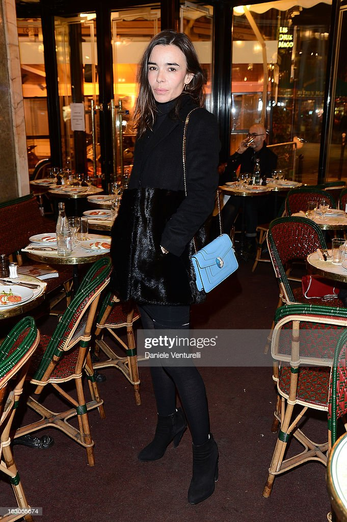Elodie Bouchez attends the Bulgari And Purple Magazine Party at Cafe de Flore on March 3, 2013 in Paris, France.