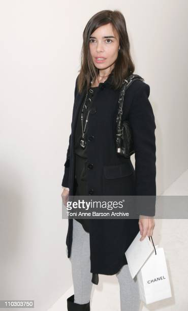 Elodie Bouchez during Paris Fashion Week Spring/Summer 2007 Chanel Front Row at Grand Palais in Paris France