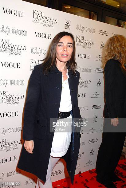 Elodie Bouchez during Paris Fashion Week Spring/Summer 2007 Karl Lagerfeld 'My Favourite Songs' CD Launch Party at VIP Room in Paris France