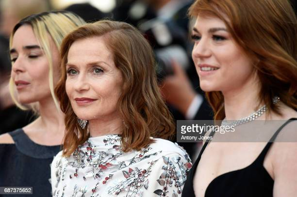 Elodie Bouchez Isabelle Huppert and Emilie Dequenne attend the 70th Anniversary of the 70th annual Cannes Film Festival at Palais des Festivals on...