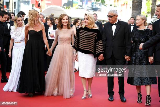 Elodie Bouchez Sandrine Kiberlain Isabelle Huppert Catherine Deneuve Andre Techine Emmanuelle Beart and Lambert Wilson attend the 'The Killing Of A...