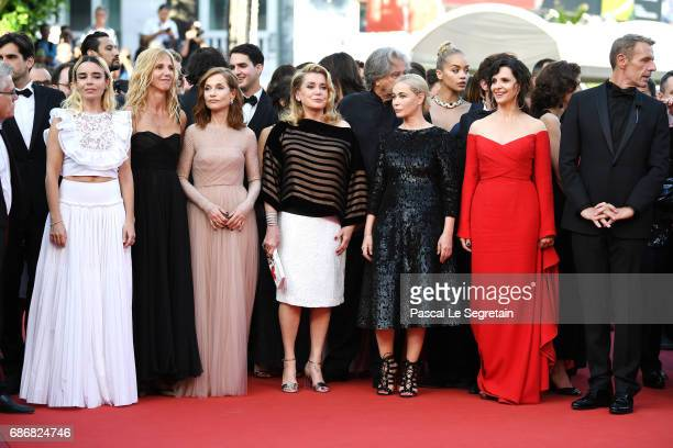 Elodie Bouchez Sandrine Kiberlain Isabelle Huppert Catherine Deneuve Emmanuelle Beart Juliette Binoche and Lambert Wilson attend the 'The Killing Of...