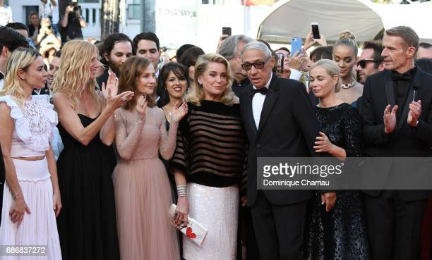Elodie Bouchez Sandrine Kiberlain Isabelle Huppert Catherine Deneuve Andre Techine Emmanuelle Beart and Lambert Wilson attends the 'The Killing Of A...