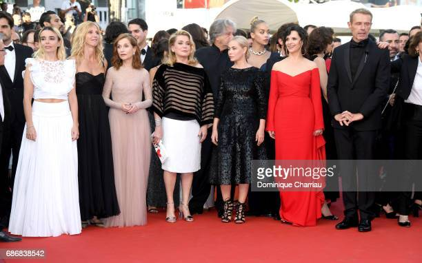 Elodie Bouchez Sandrine Kiberlain Isabelle Huppert Catherine Deneuve Emmanuelle Beart Juliette Binoche and Lambert Wilson attends the 'The Killing Of...