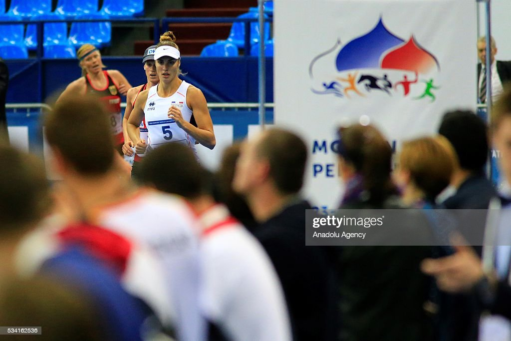 Elodie Clouvel of France competes in the Combined of the Women Qualifications at the UIPM senior modern pentathlon world championships in Moscow, Russia, on May 25, 2016.