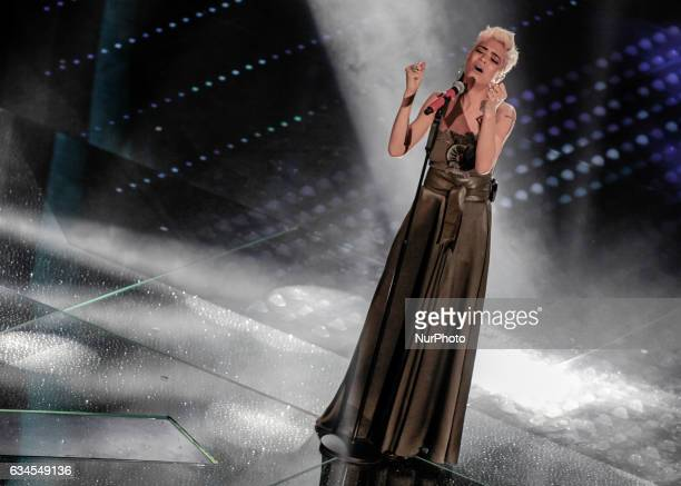 Elodie during the 67th edition of the Sanremo Festival on February 05 2017