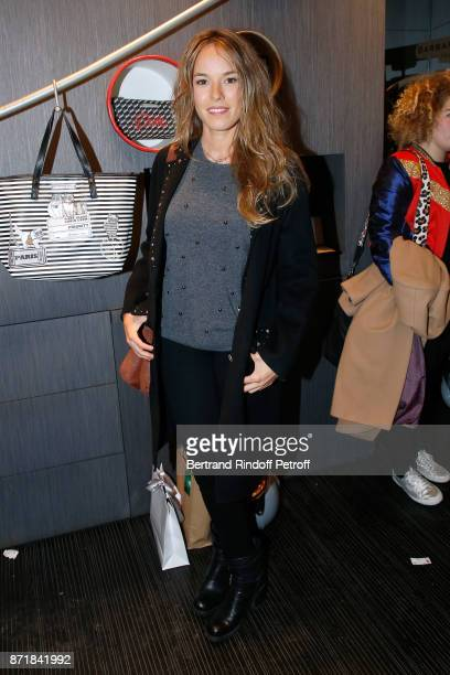Elodie Fontan attends Reem Kherici signs her book 'Diva' at the Barbara Rihl Boutique on November 8 2017 in Paris France