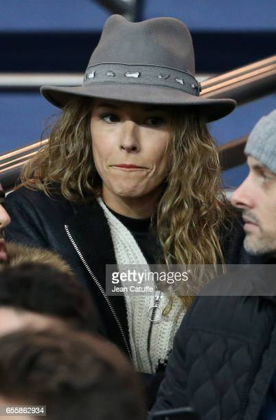 Elodie Fontan attends the French Ligue 1 match between Paris SaintGermain and Olympique Lyonnais at Parc des Princes stadium on March 19 2017 in...