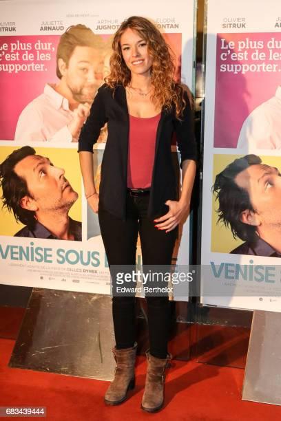 Elodie Fontan during the 'Venise Sous La Neige' Paris Premiere at UGC Cine Cite des Halles on May 15 2017 in Paris France