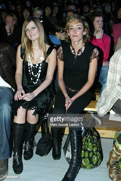 Elodie Frege and actress Juliette Arnaud during Paris Fashion Week Autumn/Winter 2006 Ready to Wear Marithe and Francois Girbaud Front Row at Paris...